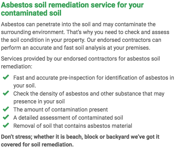 Asbestos Watch Central Coast - soil remediation right